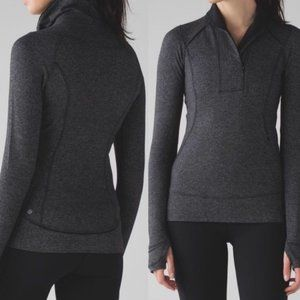 Lululemon Heather Herringbone Think Fast Pullover